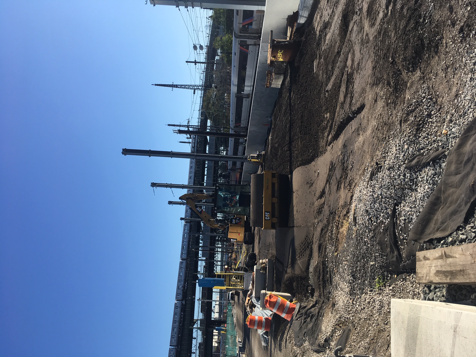 Compacting and leveling ground for future construction in the Mid-Day Storage Yard. 10-23-2019 (48959361811).jpg