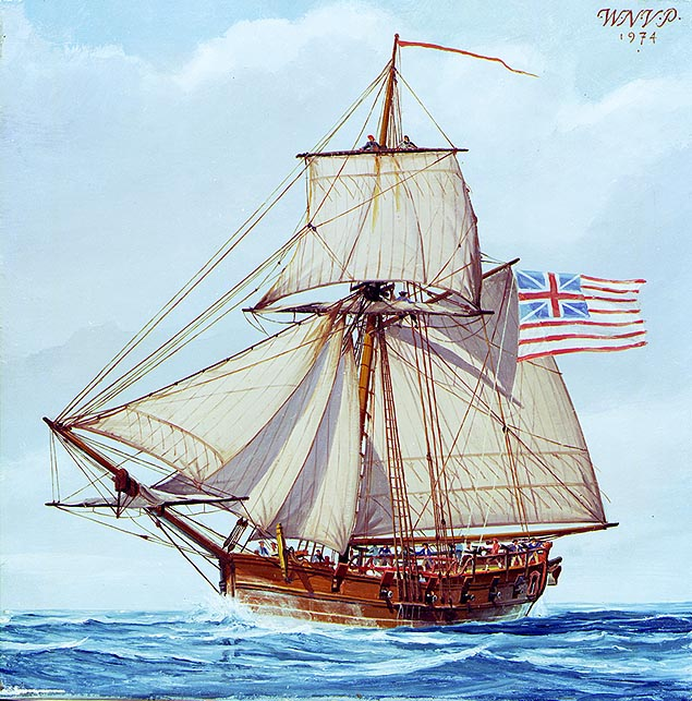 File Continental Sloop Providence  1775 1779 on 18th century belt