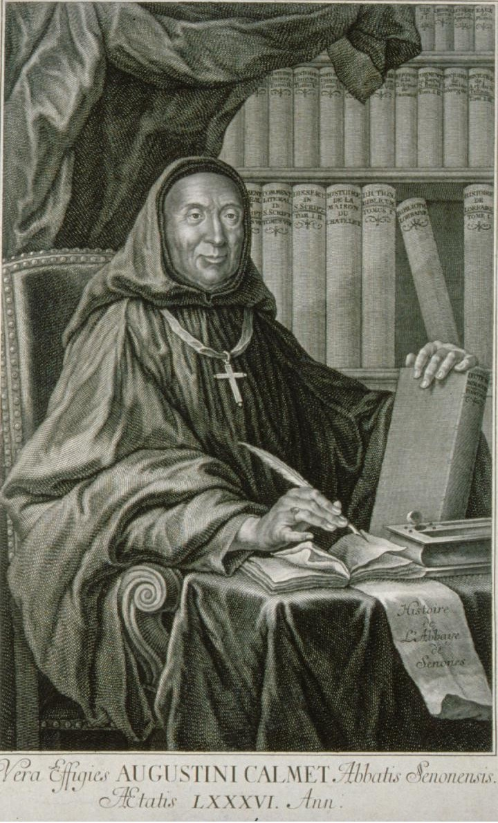 1750 engraving of Dom Augustin Calmet