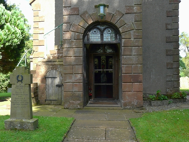 Entrance to St. Peter's Church, Castle Carrock - geograph.org.uk - 1433256