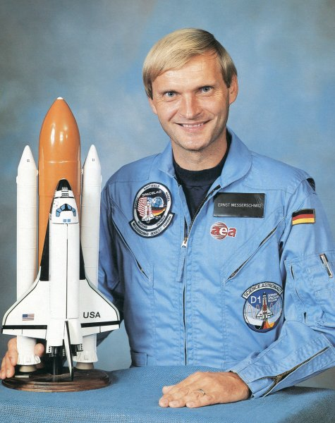 ESA astronaut Dr. Ernst Willi Messerschmid, NASA photoSource: Wikipedia Ernst_Messerschmid_1.jpg
