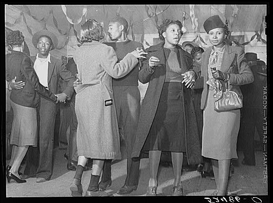 Dancing at a juke joint outside of Clarksdale, Mississippi, in 1939
