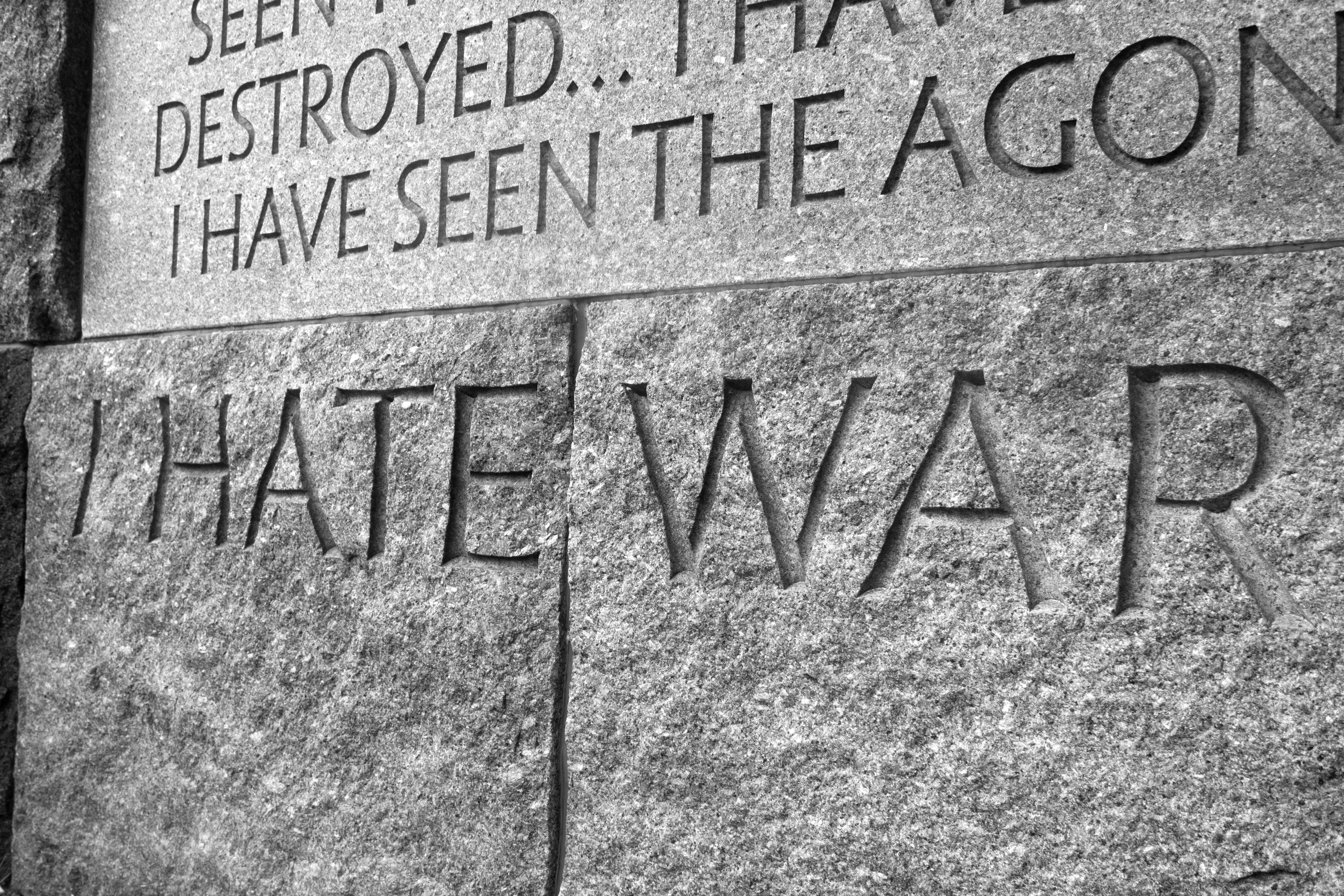 'i hate war as only a My dad had been a world war ii veteran (101st and 82nd airborne)  i hate war  as only a soldier who has lived it can, only as one who has.