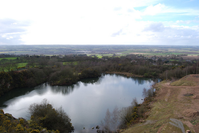 Flooded part of Hunters Hill Quarry - geograph.org.uk - 719583