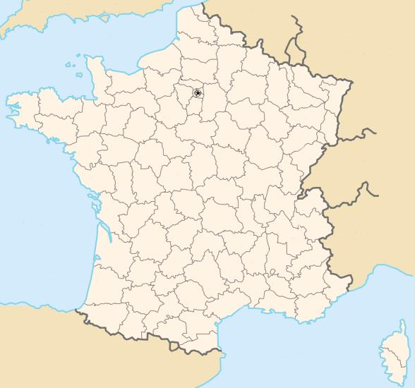 carte de france sans nom