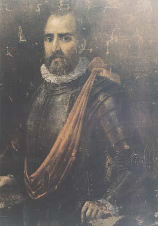 Depiction of Juan de Garay