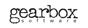 "The primary of two variations of Gearbox Software's original logo created by Brian Martel, Stephen Bahl and Landon Montgomery. The ""gearbox"" text was produced using Martel's old typewriter because Martel felt that only it had the font with an ideal lower-case ""g"". Gearbox Software logo (1999).jpg"