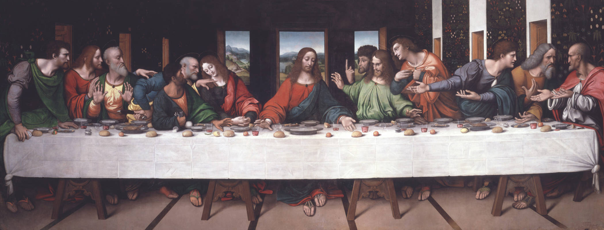 Image result for the last supper original painting secrets