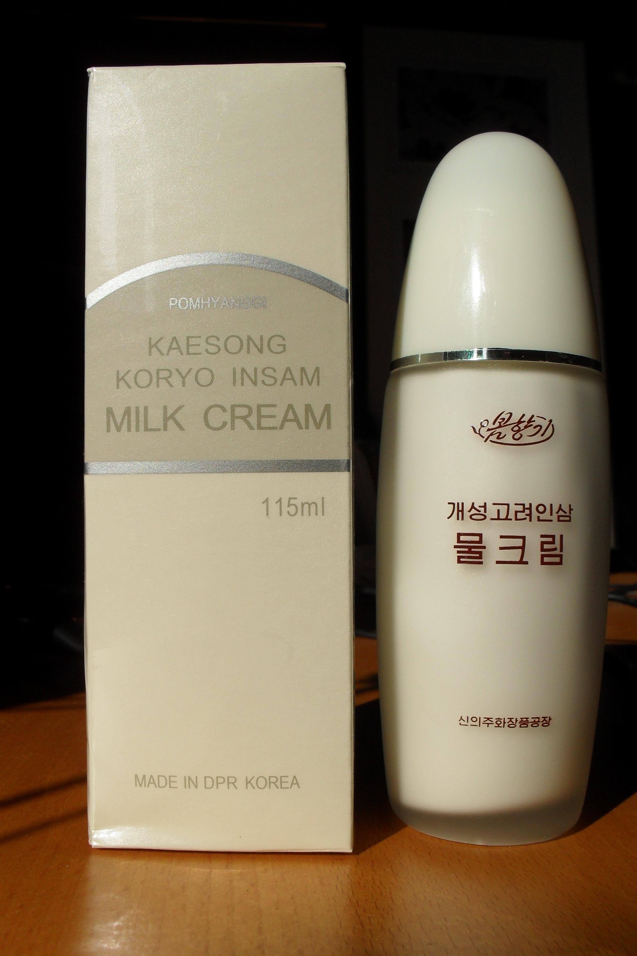Ginseng hand cream from North Korea