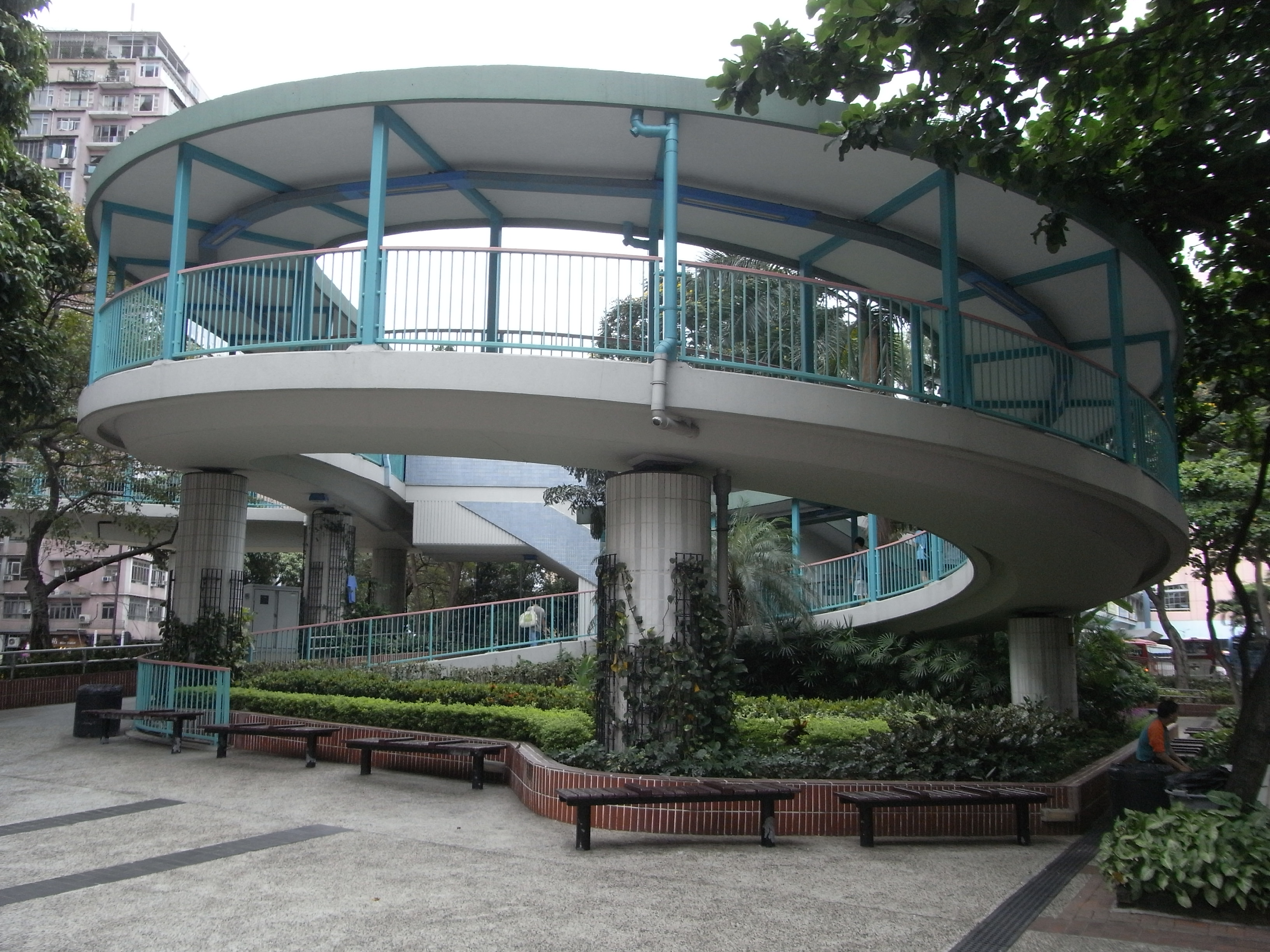 Granville Road Spiral ramp footbridge