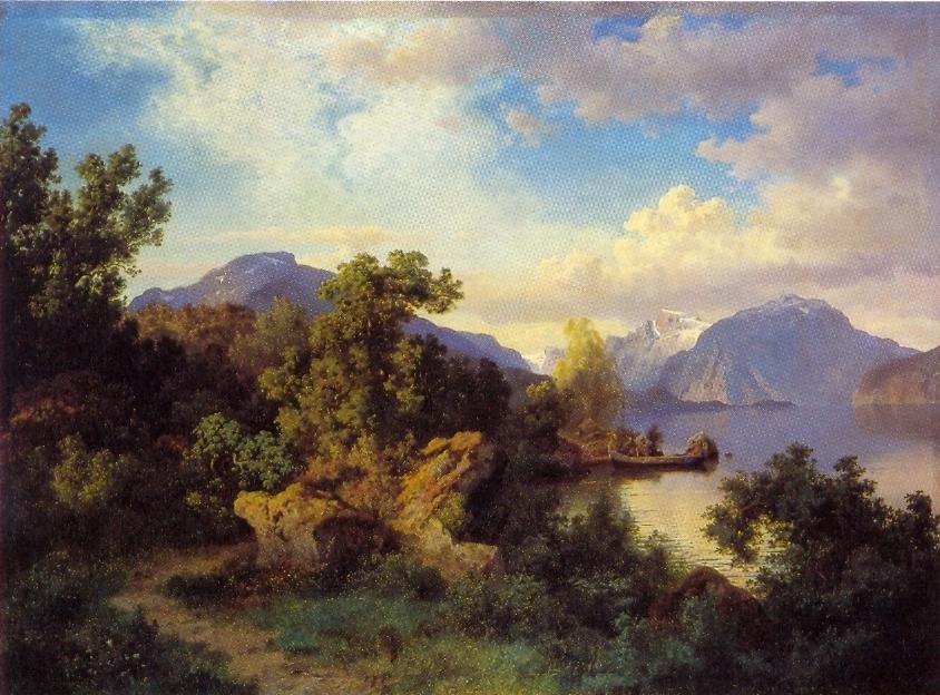 11 Martie Wikipedia: File:Hans Gude--Balestrand Ved Garden Flesje--1850.jpg