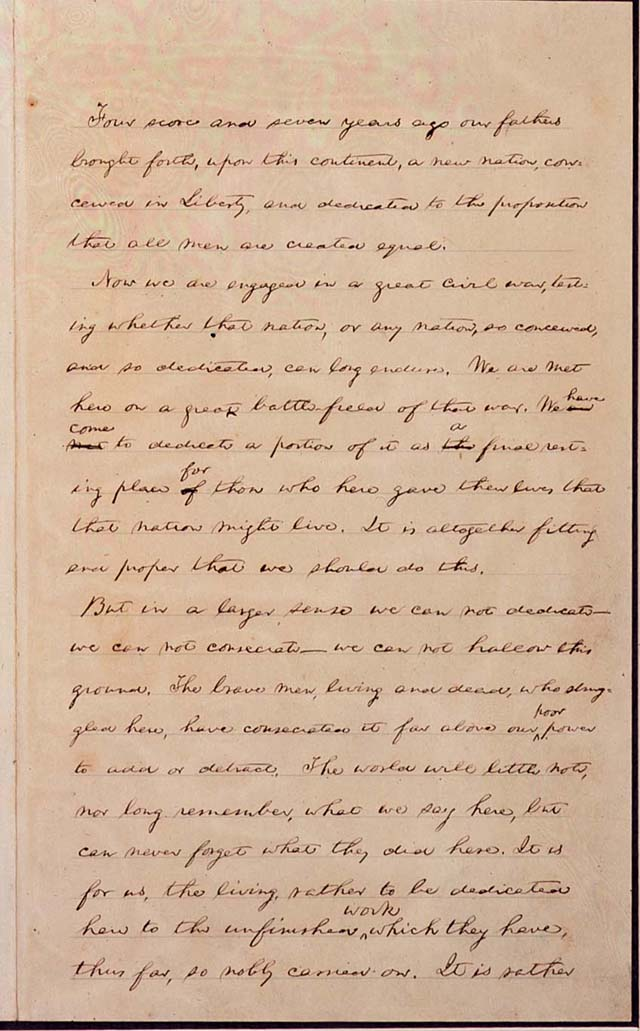 Gettysburg Address - Lincoln's Handwritten Manuscripts
