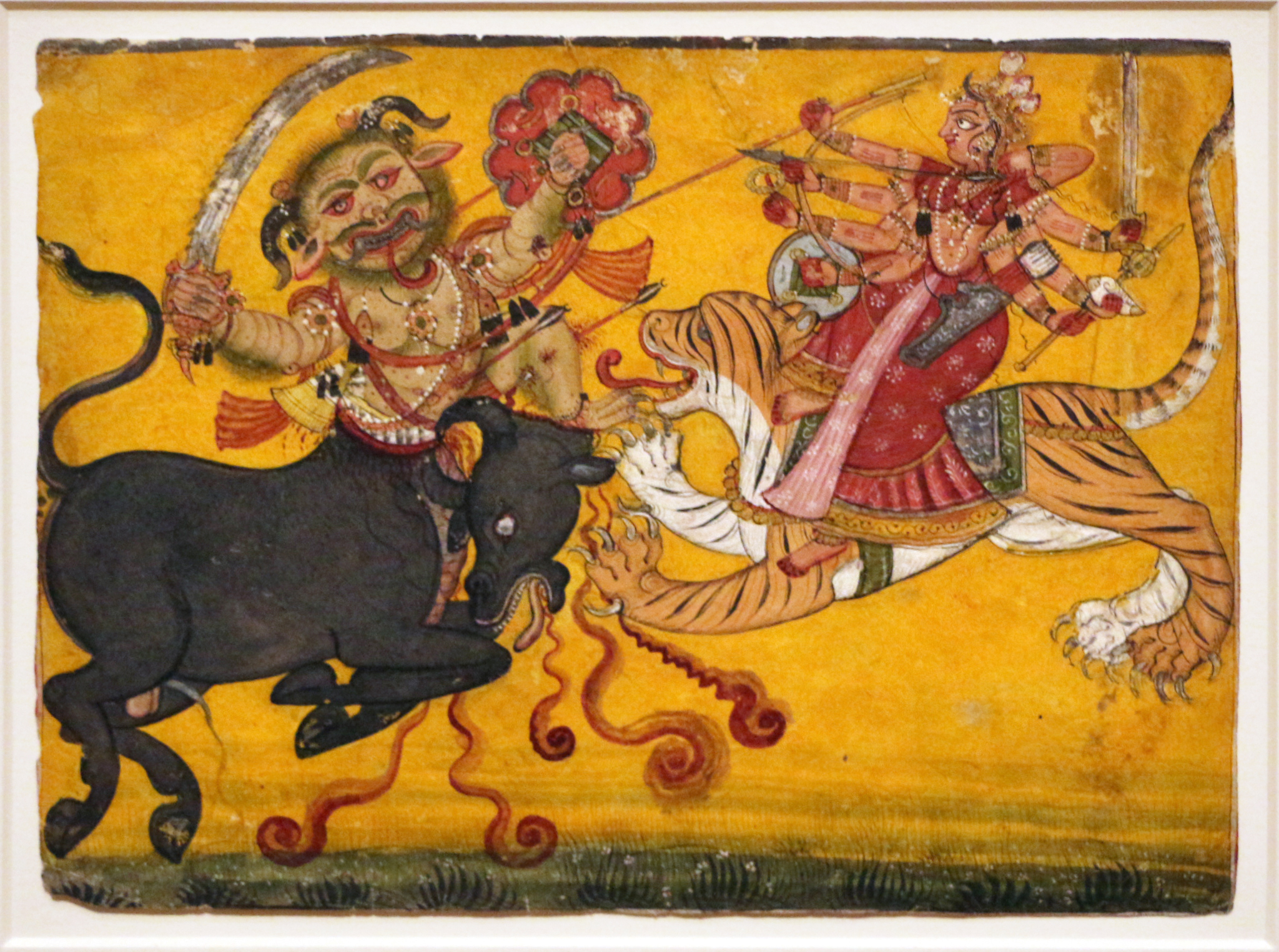 Image result for Durga in miniature paintings
