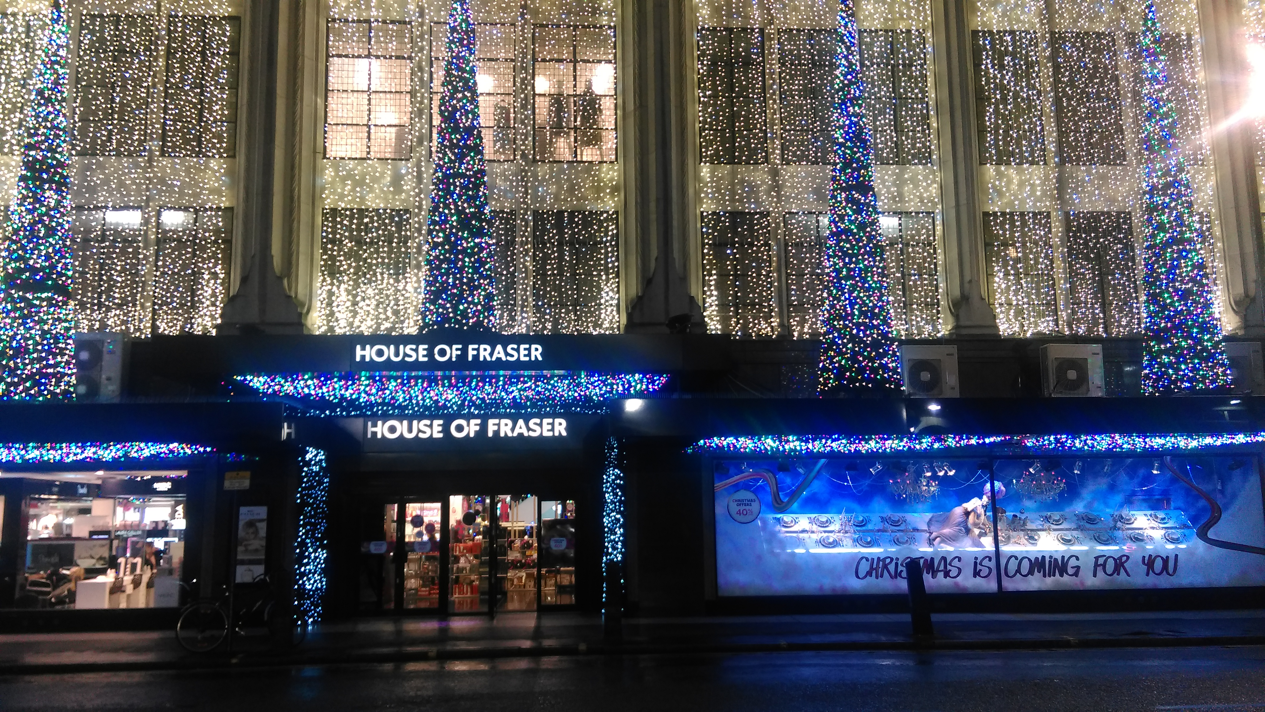 File House Of Fraser Christmas 2017 Decorations London