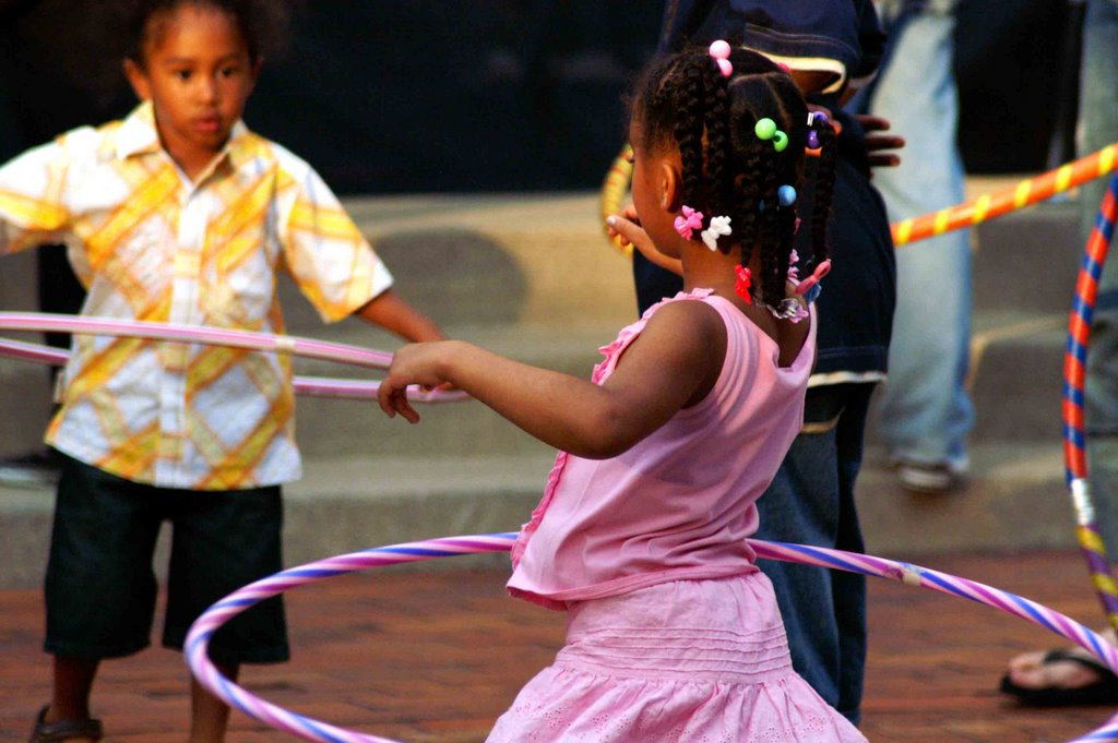 girls with hula hoops