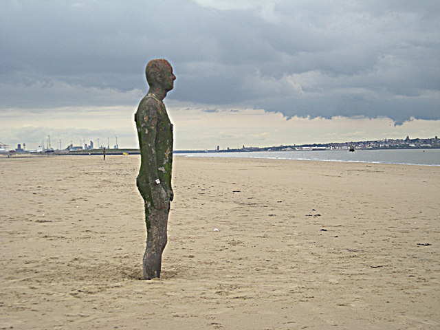 File:Iron Man at Another Place - geograph.org.uk - 957643.jpg