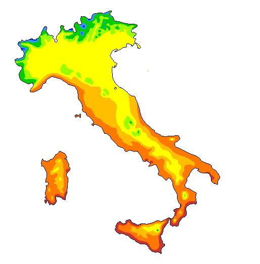 Cartina Dellitalia Con Zone Climatiche.Cartina Muta Zone Climatiche Italia