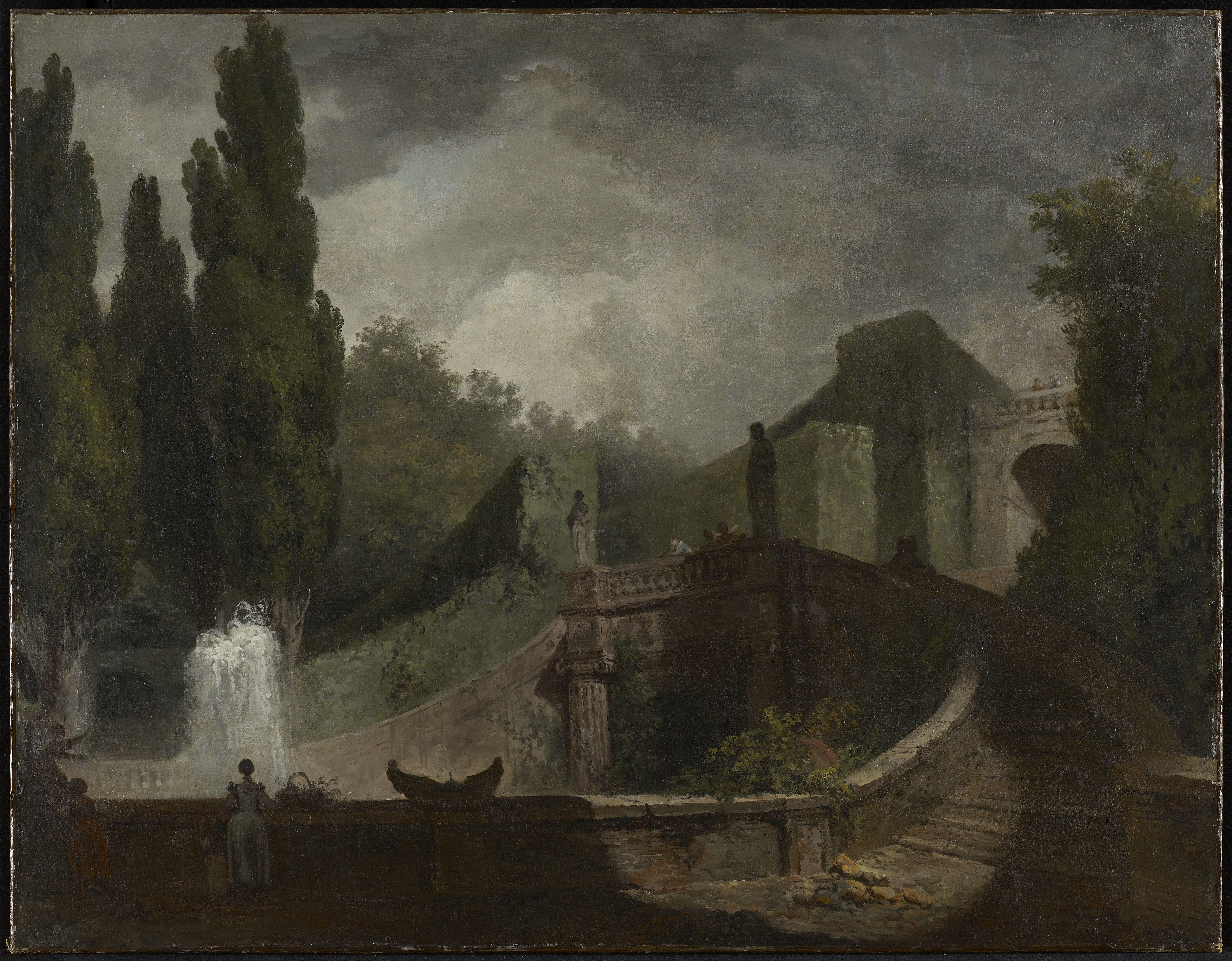 File:Jean-Honoré Fragonard - The Grand Staircase of the Villa d\'Este ...