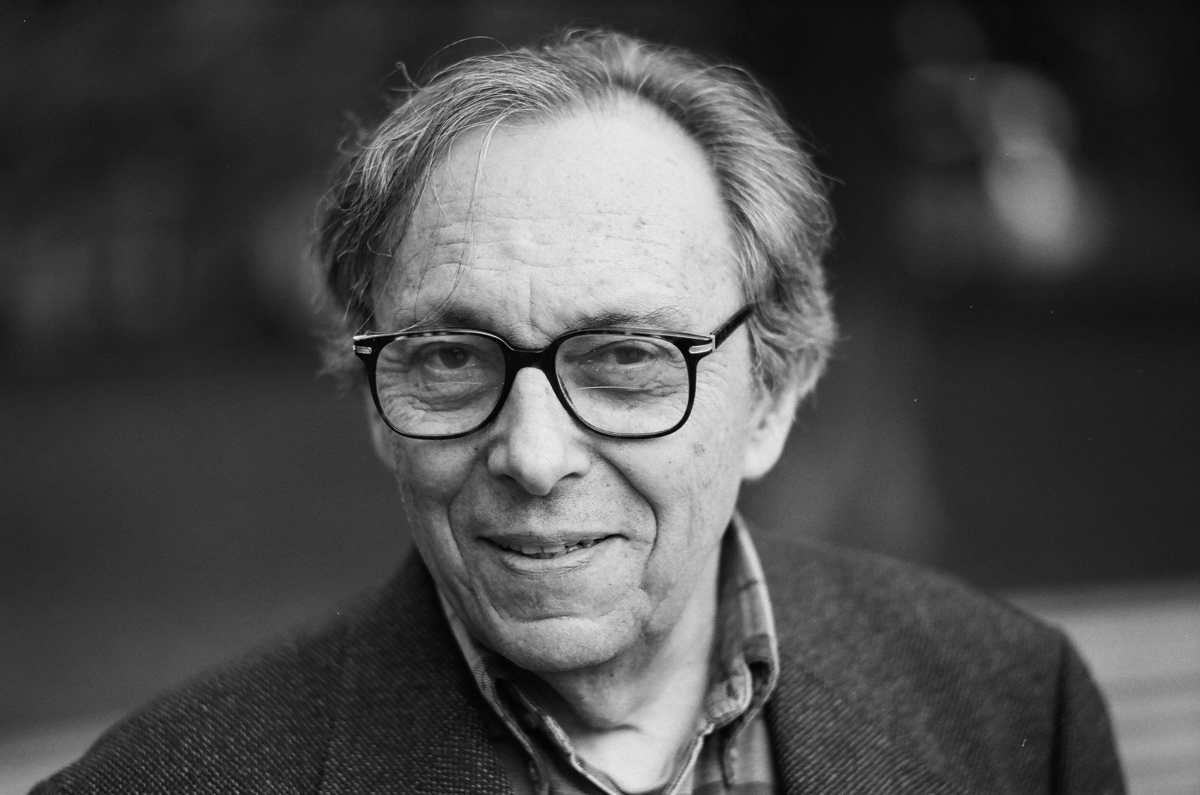 Jean Starobinski devant l'université de Genève, septembre 2004