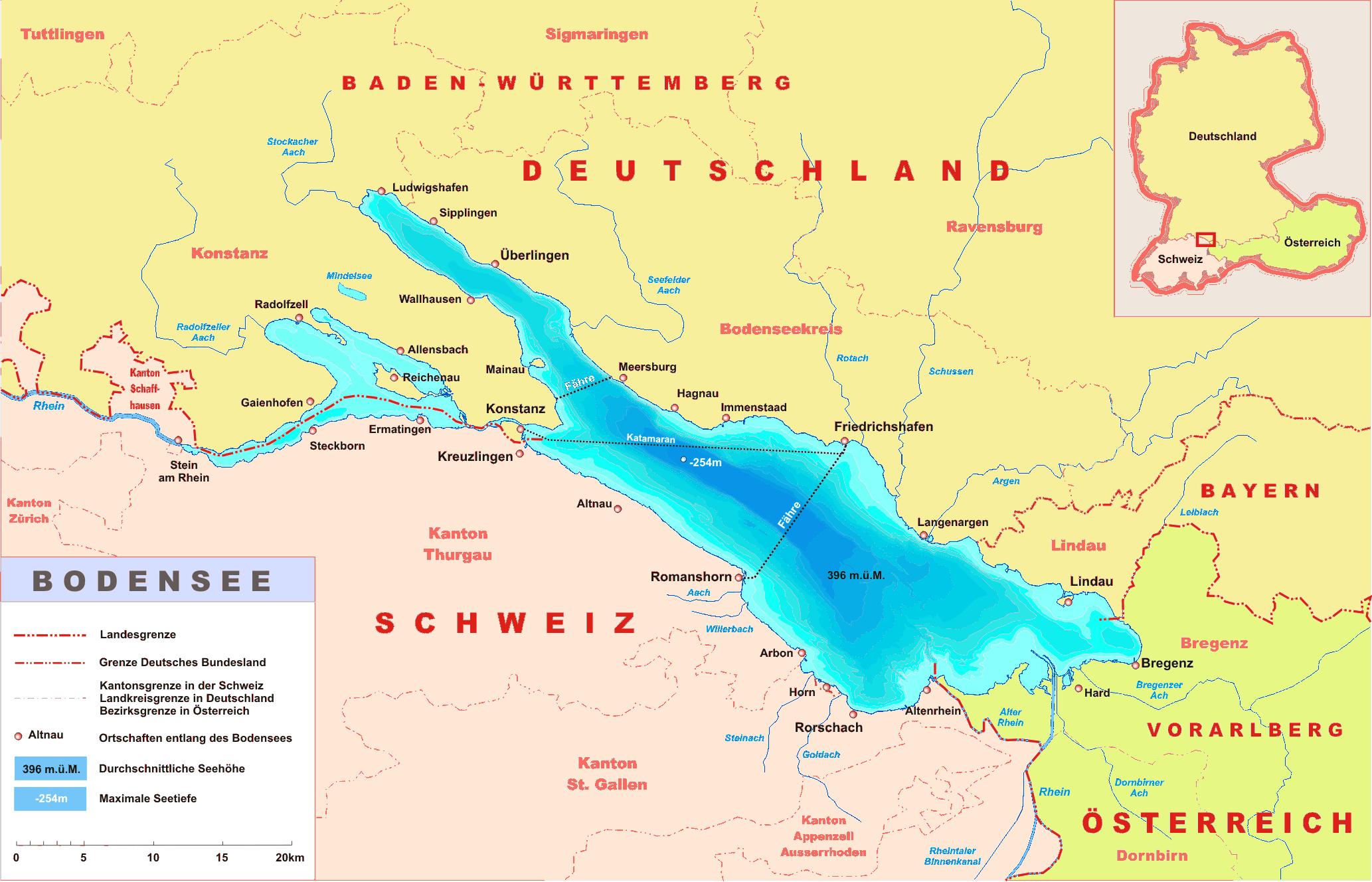 Lake Constance der Bodensee