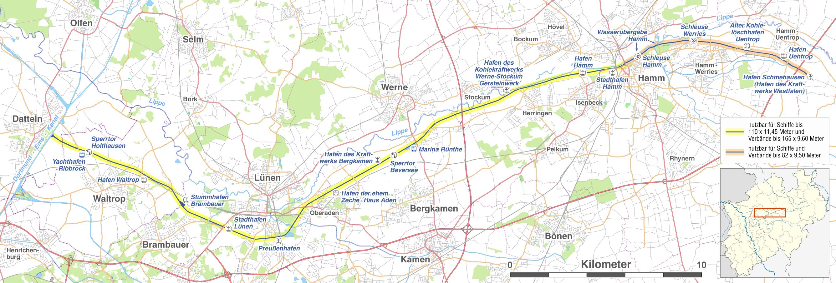Hamm Karte.File Karte Des Datteln Hamm Kanals Png Wikimedia Commons