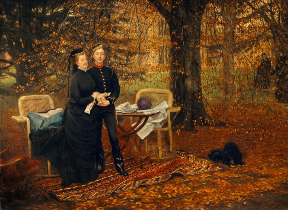 The Empress Eugénie and her son by James Tissot (1878)