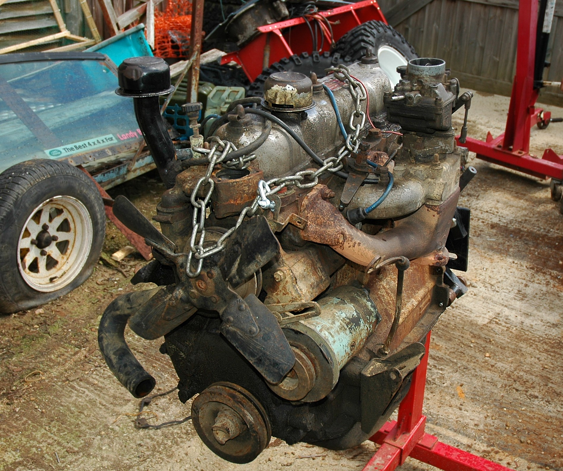 File:Land Rover 2.25 On Engine Stand.JPG