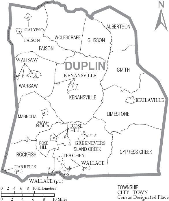 File:Map of Duplin Countyduplin county