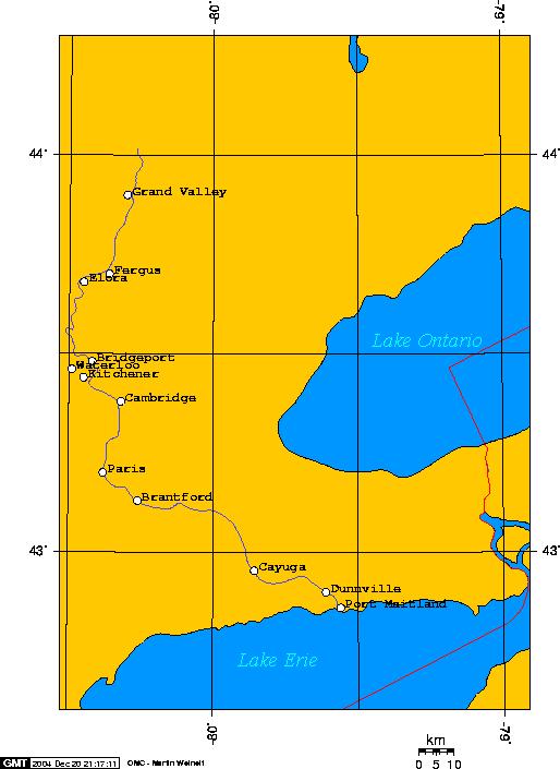 Grand River Map Grand River (Ontario)   Wikipedia