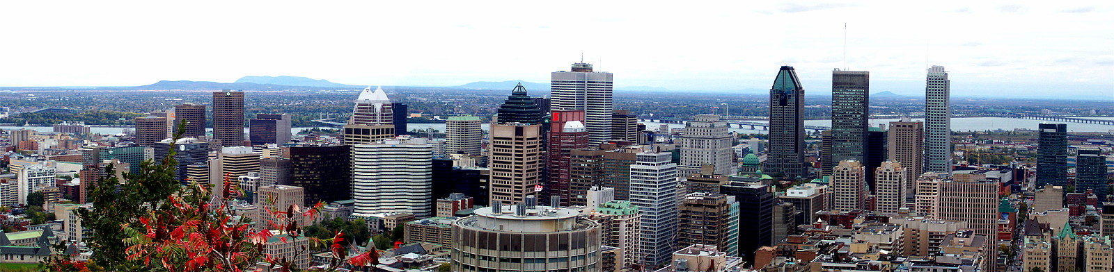 A panorama I took of downtown Montreal
