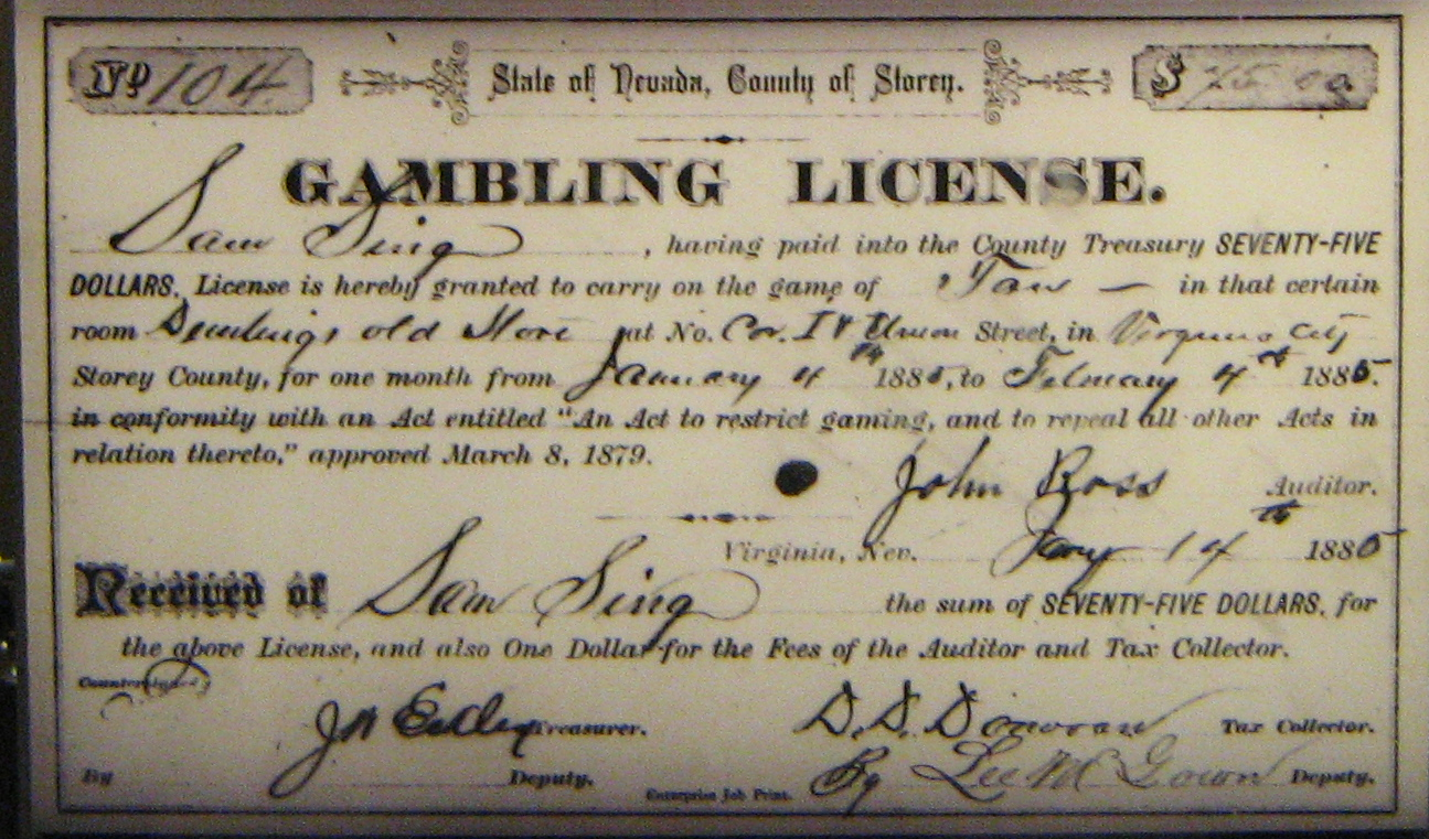 file nevada gambling license jpg  file nevada gambling license 1880 jpg