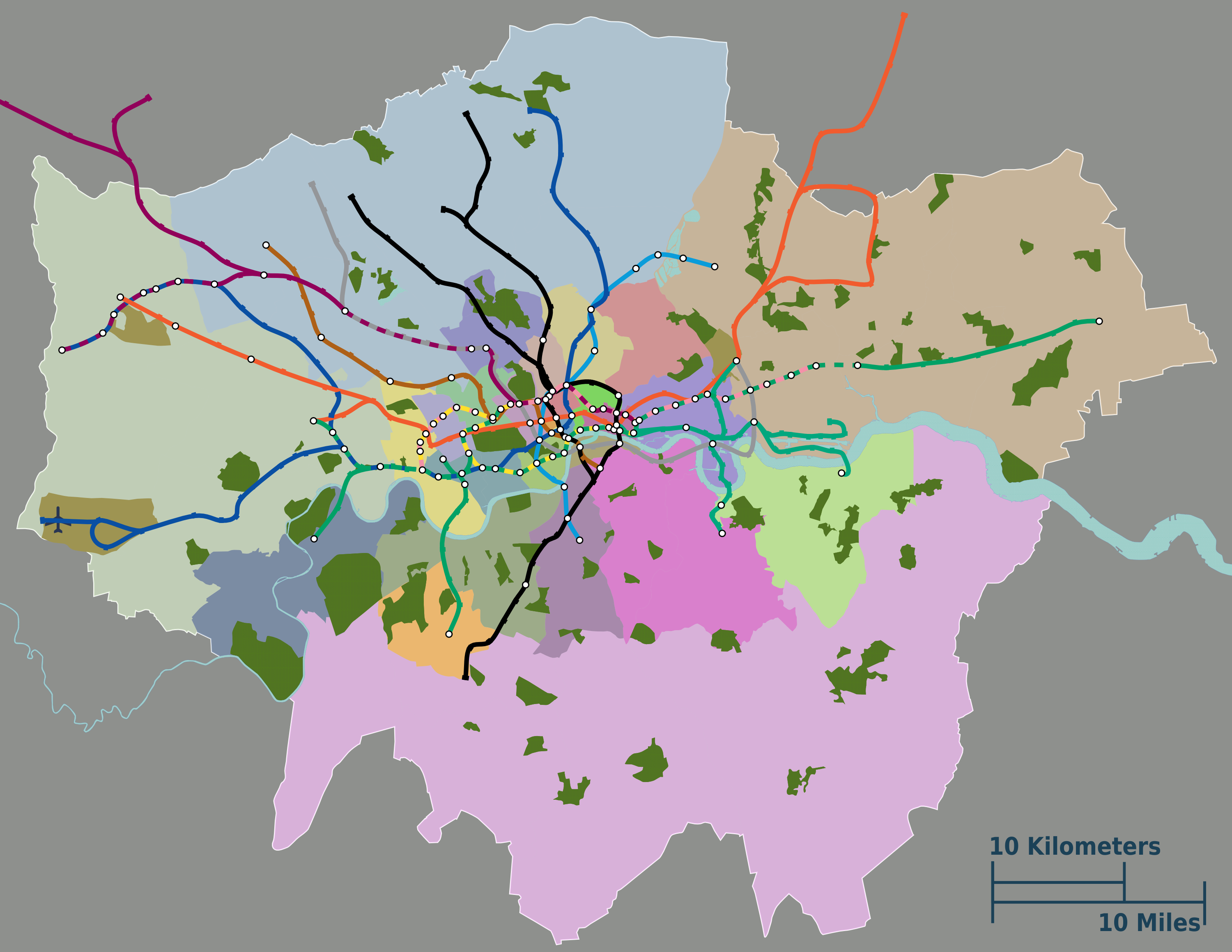 Map Outer London.Outer London Map Exodoinvest