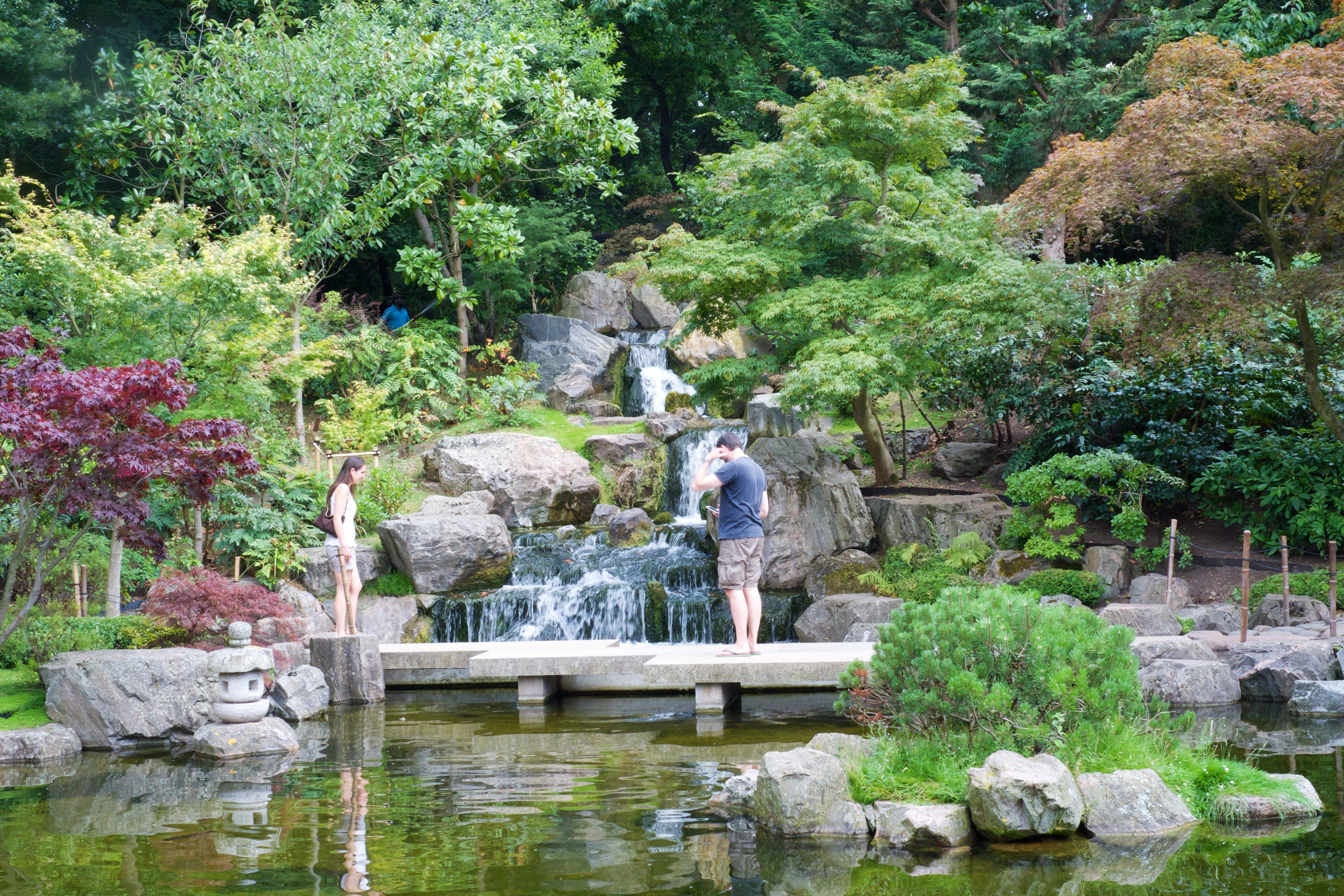FilePeople On Bridge In Kyoto Gardens Holland Park London