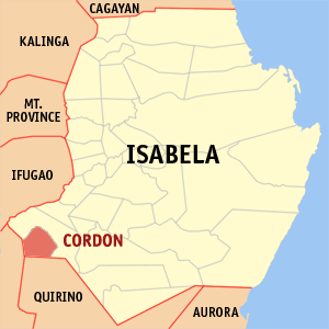 Mapa na Isabela ya nanengneng so location na Cordon