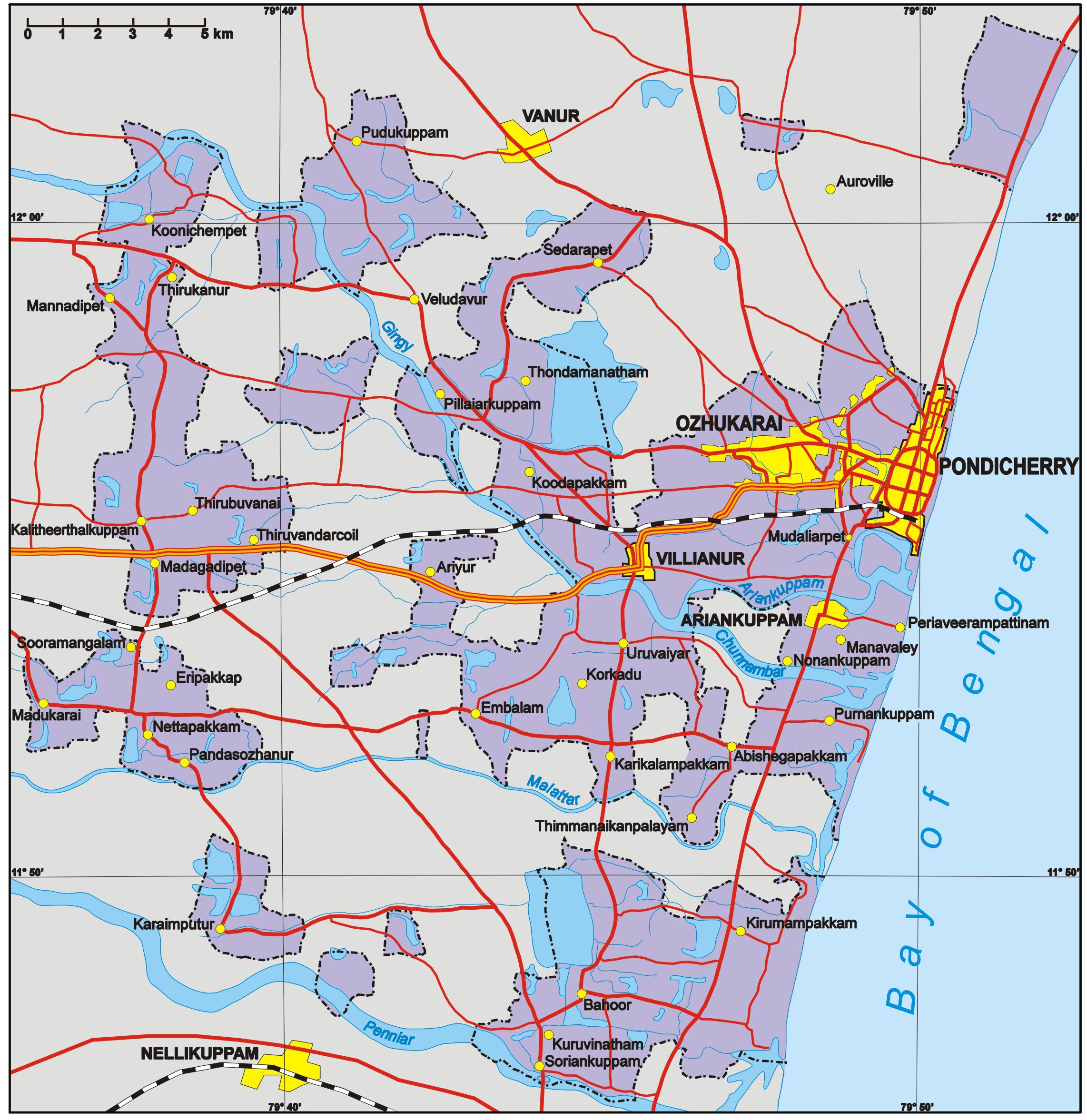 FilePondicherry Mappng Wikimedia Commons - Pondicherry map