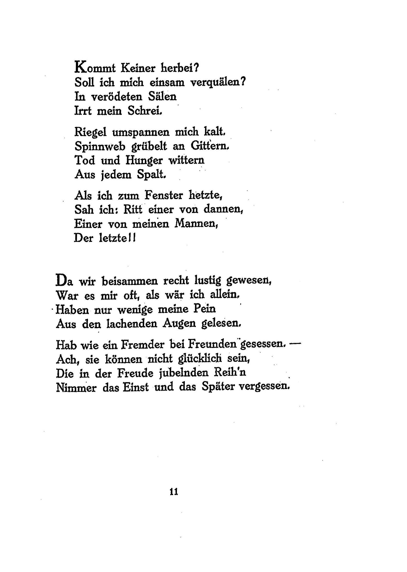Ringelnatz gedicht zum tod