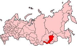 Республика Бурятия на карте России