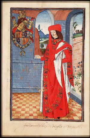1473 depiction Ferdinand I of Naples SOAOTO - Folio 074R.jpg