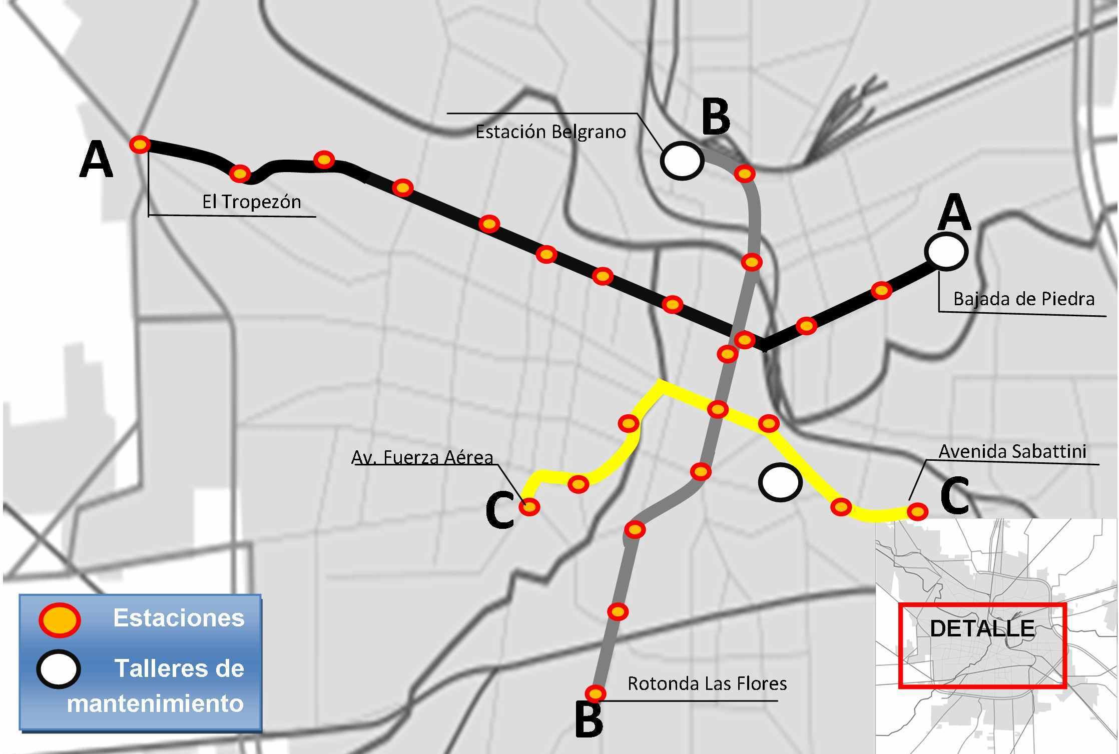 Subte De Córdoba Wikiwand - Argentina subte map