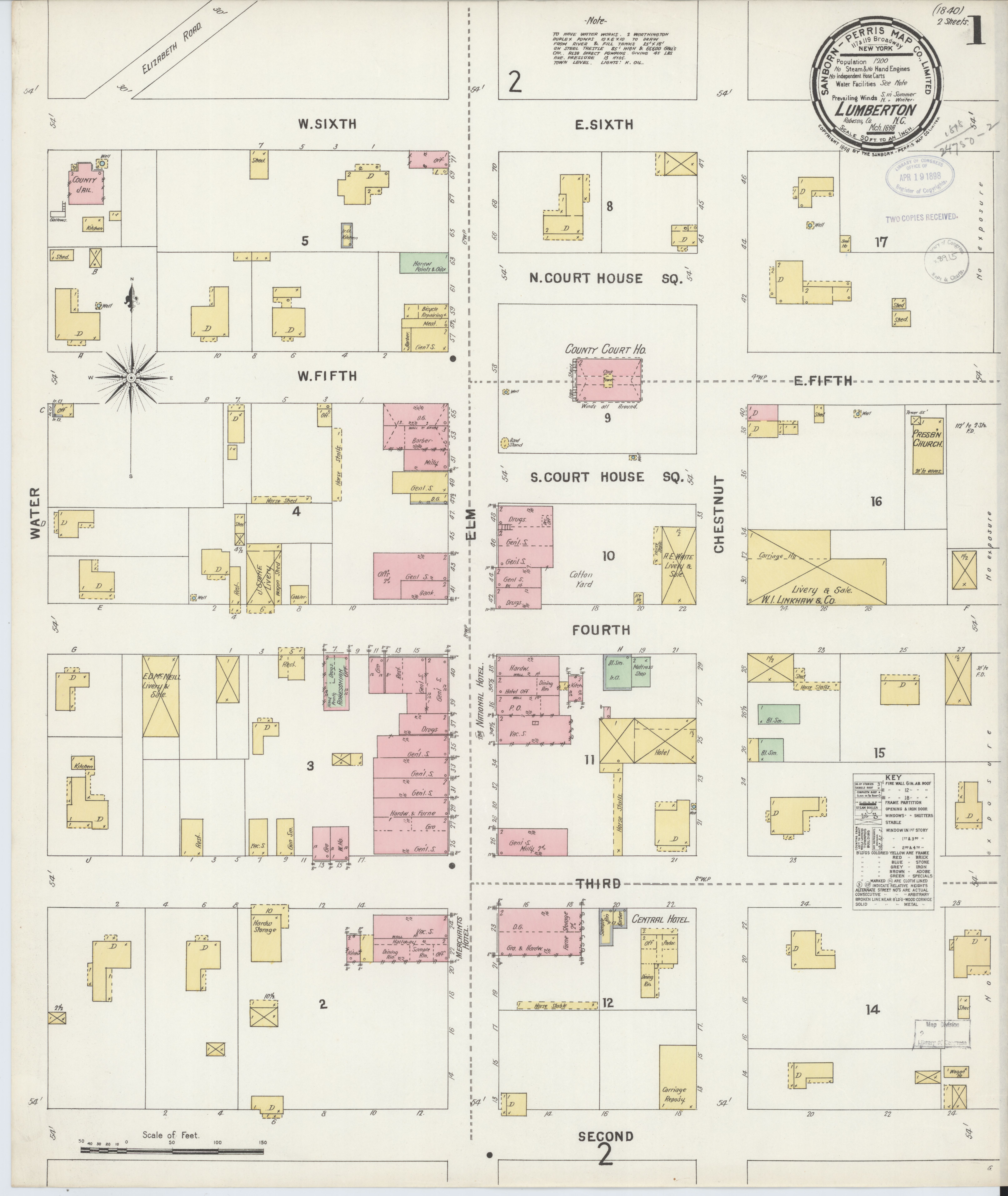 File Sanborn Fire Insurance Map From Lumberton Robeson County