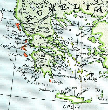 Ubicación de Islas Jónicas