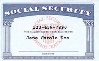 Sample Social Security Card