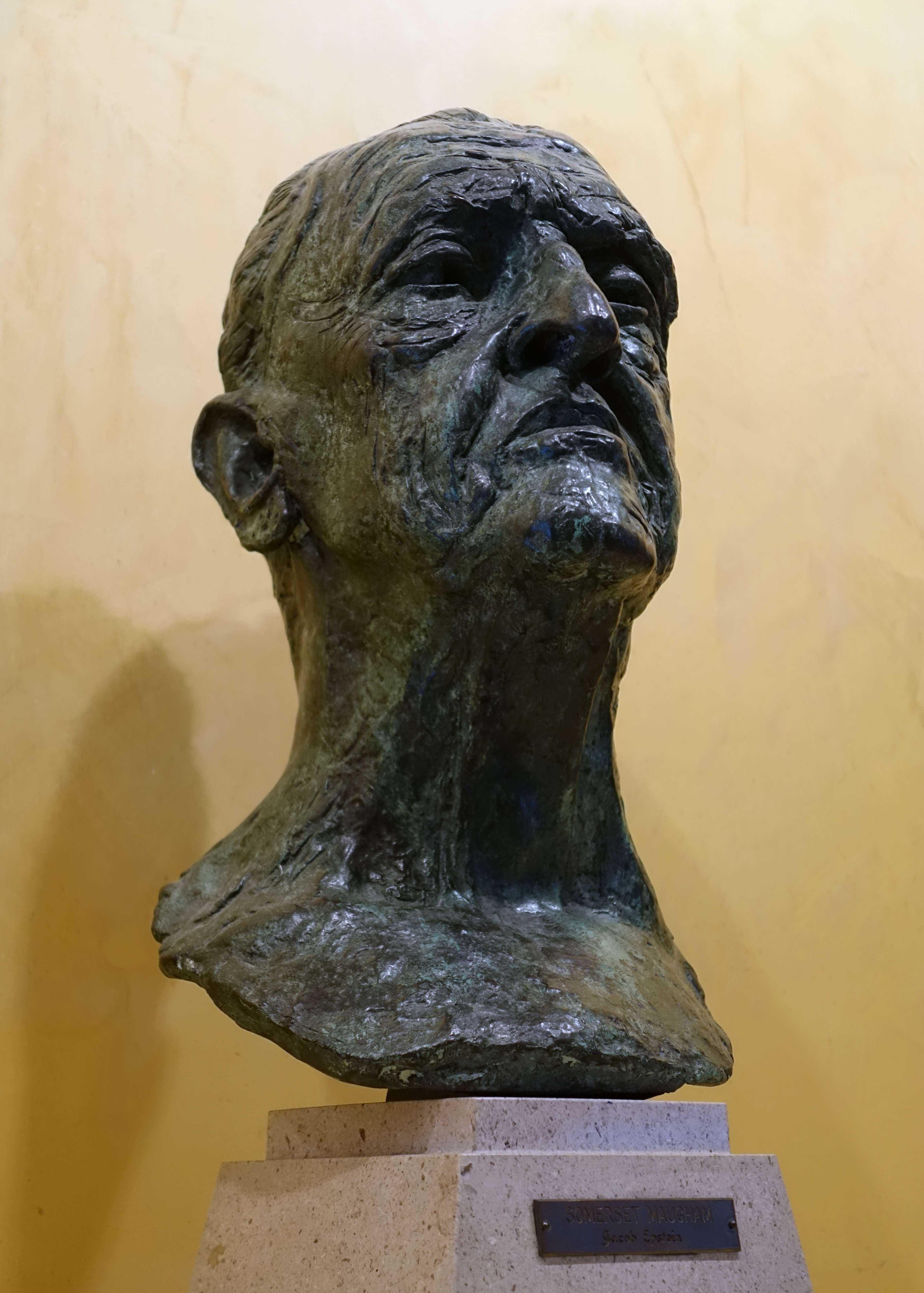 University Of Texas Organizational Chart: Somerset Maugham by Jacob Epstein 1951 bronze - Harry ,Chart