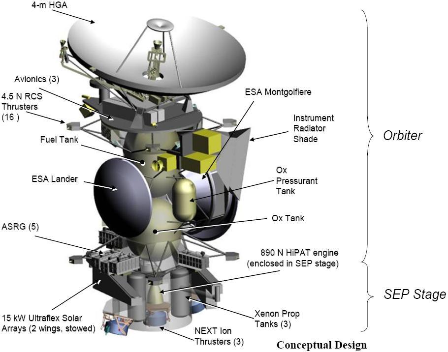 Titan Saturn System Mission Wikipedia