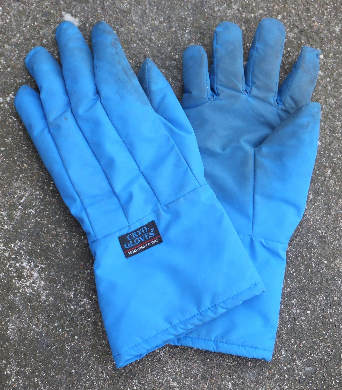 Tieftemperatur-Handschuhe für Arbeiten mit verflüssigten Gasen