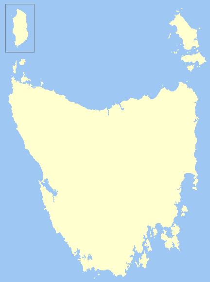template tasmania cities map