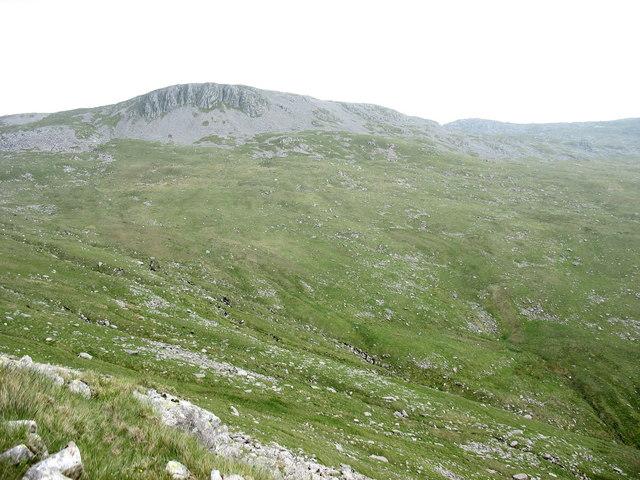 File:The head of Cwm y Dolau from Foel Fawr with Aran Fawddwy in the background - geograph.org.uk - 476051.jpg