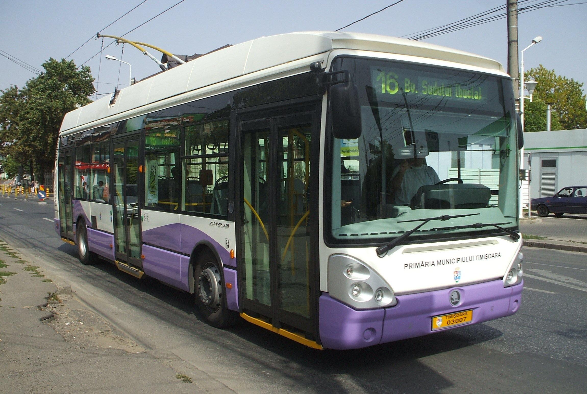 Skoda transports ... Timisoara_Skoda_trolleybus_3007