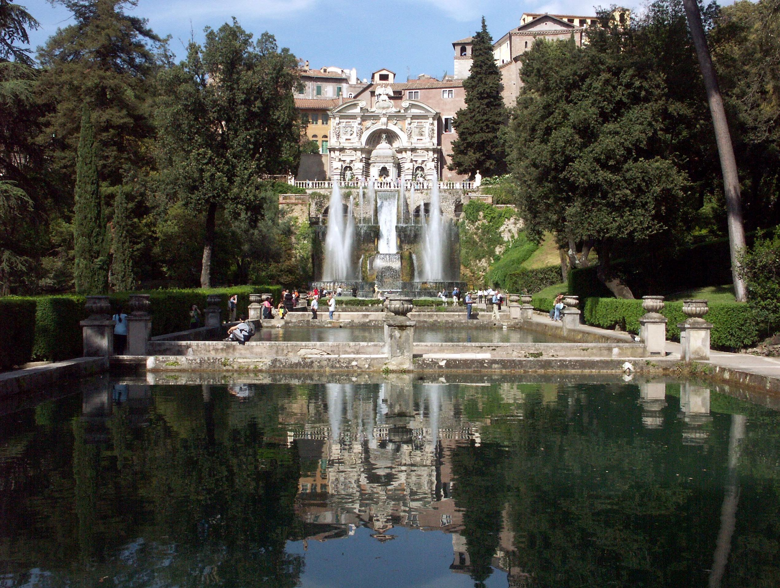 File Tivoli Villa D 39 Este Querachse Mit Neptunbrunnen Und