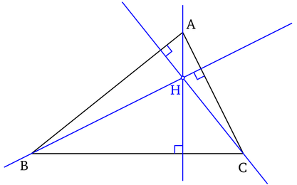 Hauteurs et orthocentre d un triangle. 067b5936b60